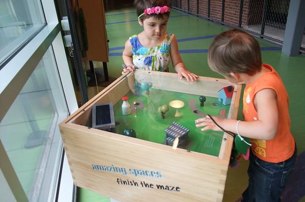 Children's Museum tilt-maze.