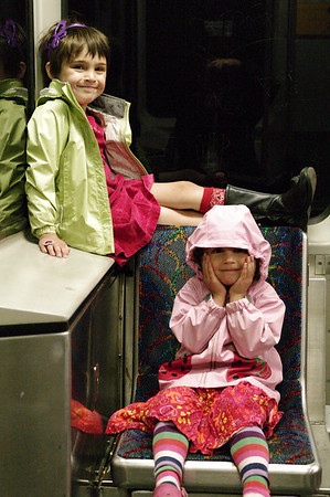 Girls on the train.