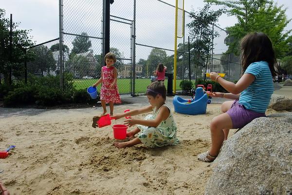 Sand work.
