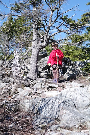 Guen on the mountain.