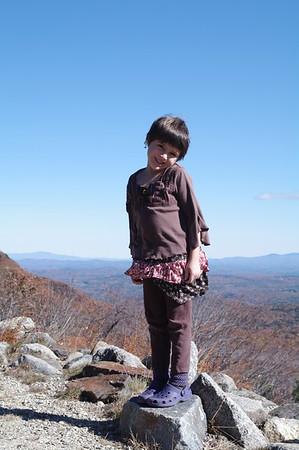Mountain climbing.