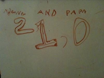 Nana and Papa 2, 1, 0.