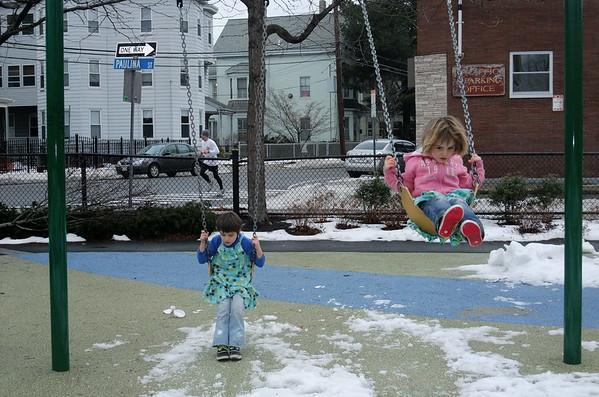 Winter playground.