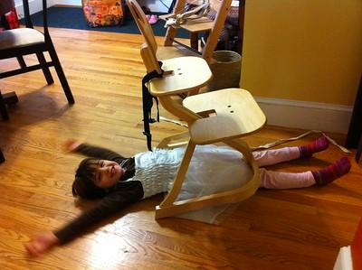 """Guen said: """"The chair won!"""""""