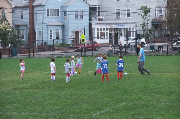 Guen's soccer practice.