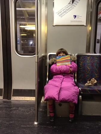 Grumpy on the train.