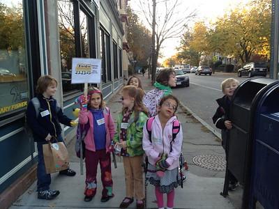 The Walking School Bus crowd.