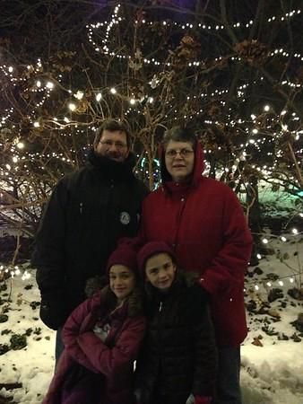 Christmas lights at the zoo.