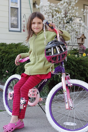 Guen and her bike.
