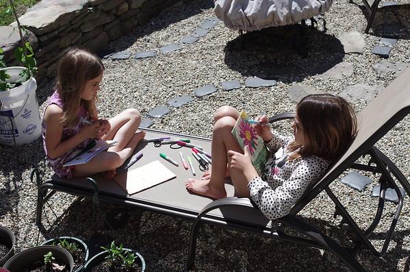 Kids' craft time.