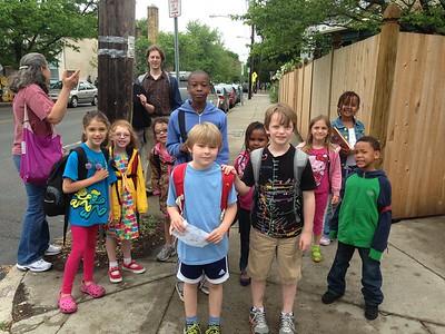 Walking School Bus group photo.