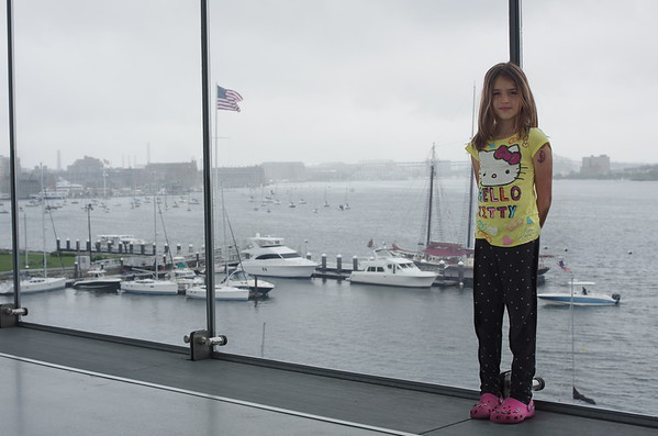 Guen and the big window at the ICA.