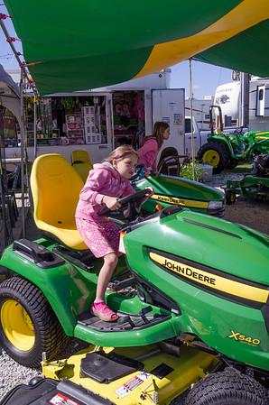 Tractor race.