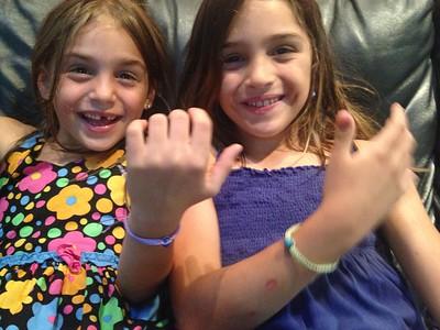 The bracelets for mommy.