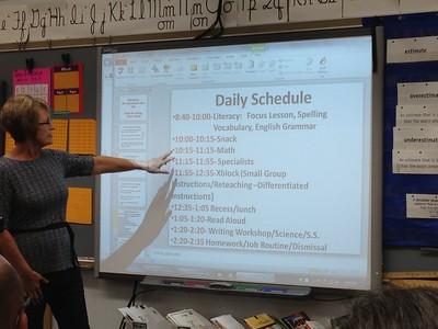 The 3rd-grade schedule.