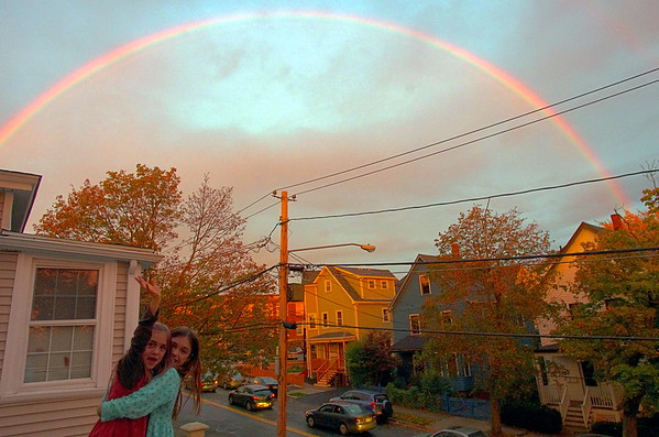 Rainbow over Somerville.