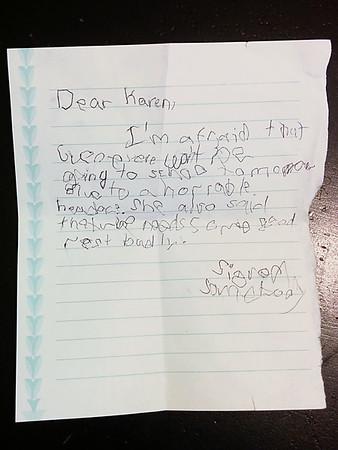 Suspicious note.