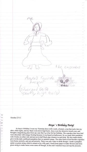 Guen's account of Anya's birthday.