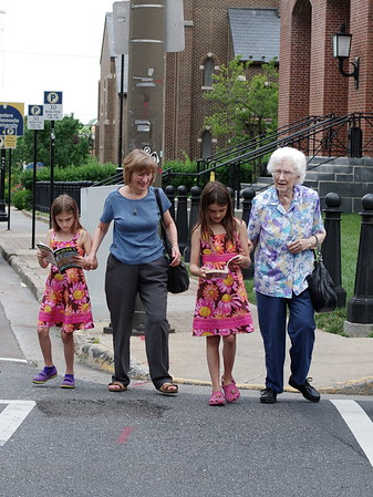 Good thing Nana and Grandma know how to pay attention when crossing a street.
