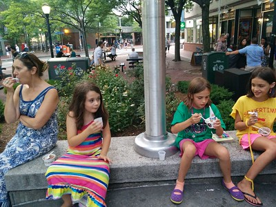 Ice cream in Davis Square.