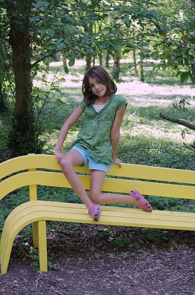 Guen on bench.