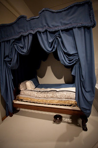 Cutout of the typical bed withe straw matress on the bottom.