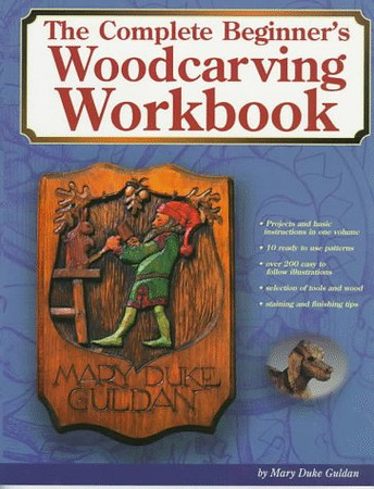 """<b>Publisher Notes</b> With this new book from Chip Chats columnist Mary Duke Guldan, you'll learn the basics in over 200 how-to illustrations and 10 patterns. You'll find the information you need on tools and wood as you follow the simple instructions. Easy step is clearly illustrated. You'll steadily increase your carving skill and confidence as you use this workbook to master both relief carving and carving in the round.  By using the most elementary tools -- an X-ACTO knife set -- readers can carve simple projects in both round and relief. Photos and step-by-step instructions explain the techniques for carving angels, folk art dogs, bookends, and a carousel horse head. With full-size patterns drawn from 3 different dimensions, woodcarving is reduced to its simplest form.  <b>Book Details Summary</b> The title of this book is The Complete Beginner's Woodcarvers Workbook and it was written by Mary Duke Guldan. This edition of The Complete Beginner's Woodcarvers Workbook is in a Paperback format. This books publish date is March 1997 and it has a suggested retail price of $9.95. There are pages in the book and it was published by Fox Chapel Pub Co Inc. The 10 digit ISBN is 156523085X and the 13 digit ISBN is 9781565230859.  Click <a href=""""http://www.allbookstores.com/Complete-Beginners-Woodcarvers-Workbook-Mary/9781565230859"""" target=""""_blank"""">here</a> to order."""