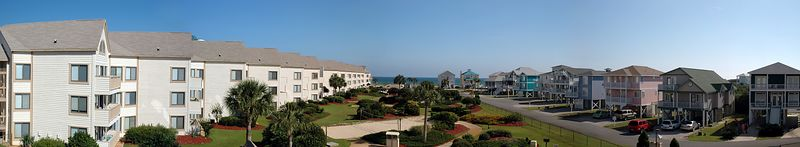 Panorama taken from our balcony.  4 pictures stitched together.