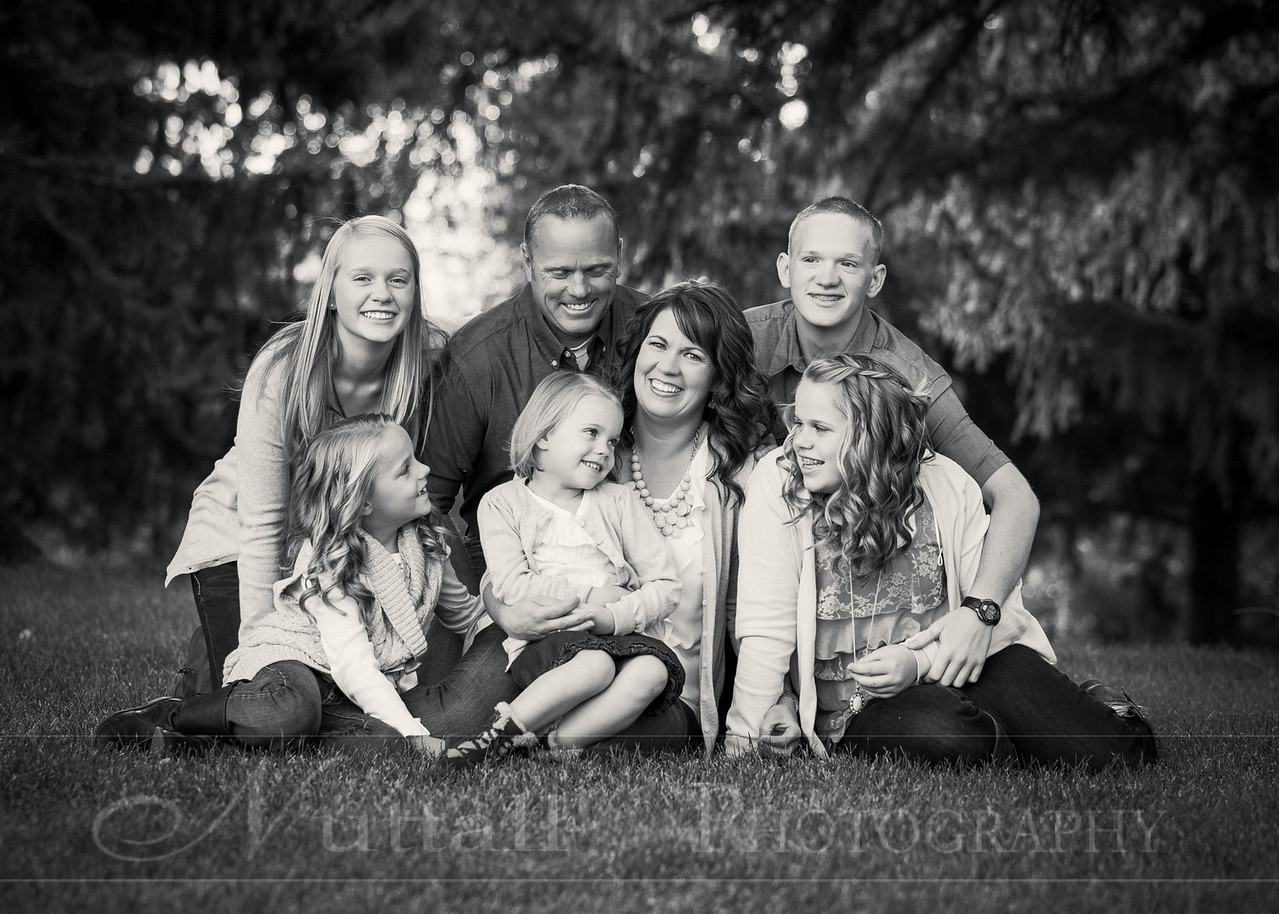 Gustaveson Family 11bw