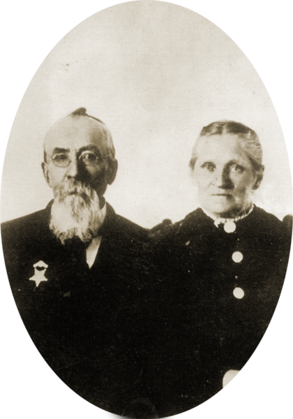 William Morley Black and Anna Maria Hansen oval copy