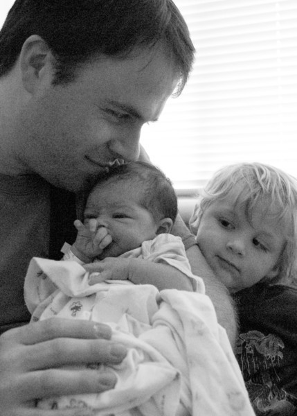 Lyle and son, Wyatt, meet River.