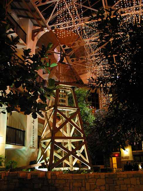 "WINDMILL IN ""HILL COUNTRY"" PORTION OF THE ATRIUM"
