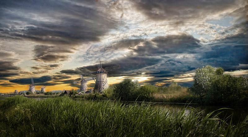 "Kinderijk, South Holland ... ""Windmill Sunset"""