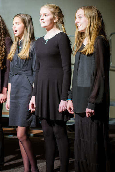 The 8th grade girls performed several Beauty and the Beast songs with the high school Coffee House Choir