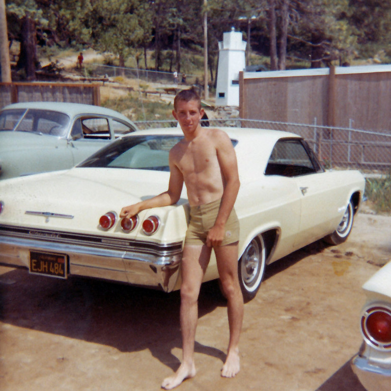 My Dad 15-Years-Old, Bass Lake with the 1965 Impala.