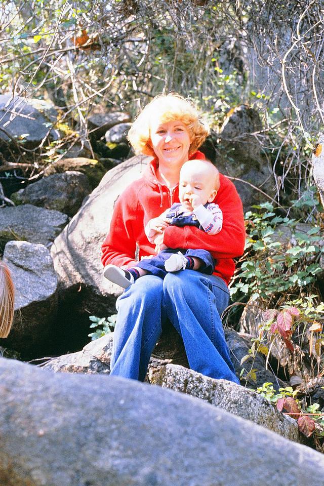 Susan holding Jason @ Yosemite, 1980