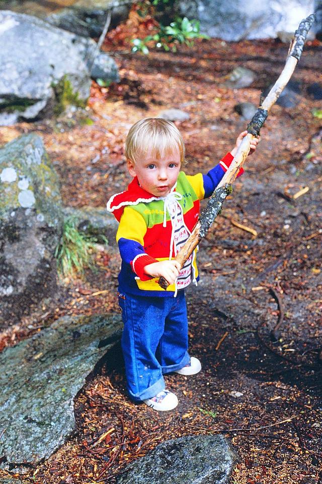 David with his stick @ Yosemite, 1980