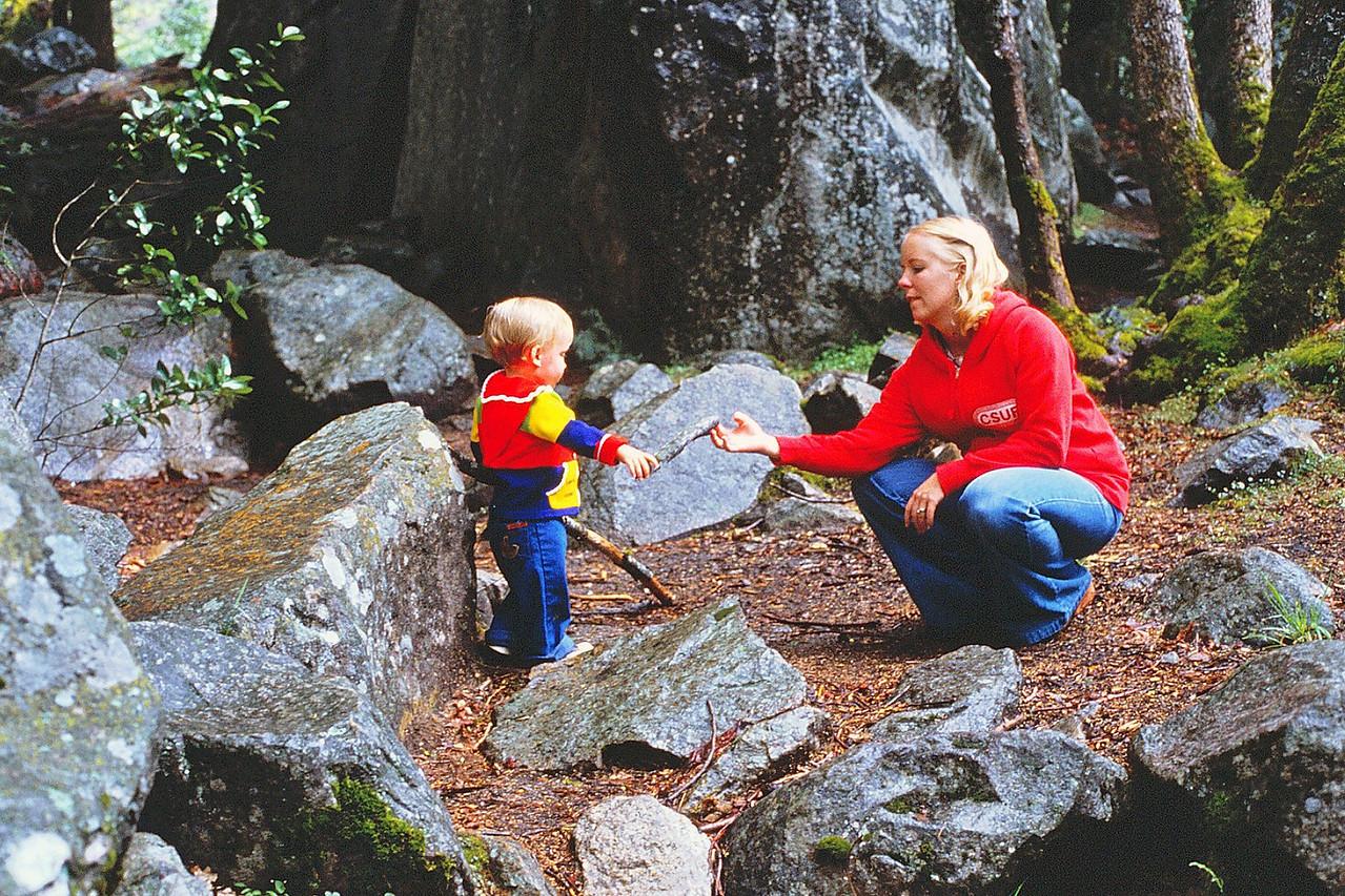 David & Mom @ Yosemite, 1980