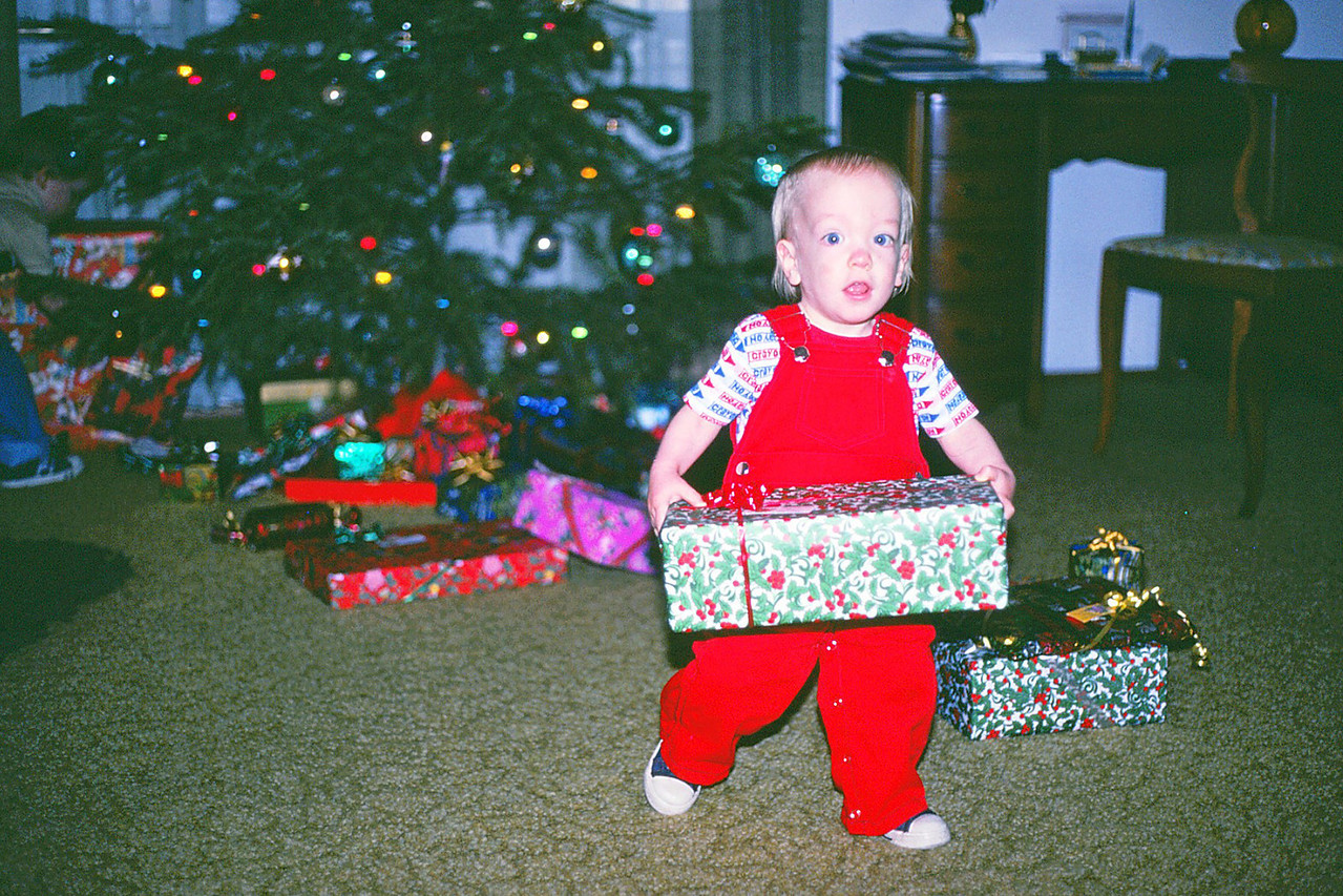 Jason grabs another present, Xmas 1981