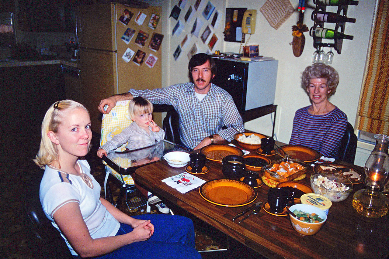 Christmas Dinner @ the Husted Home, 1981