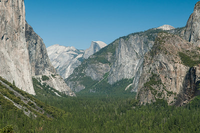 Even Bridal Veil Falls has barely a trickle of water.  Half Dome in the distance.