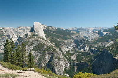 Half Dome and both Nevada and Vernal Falls from Washburn Point