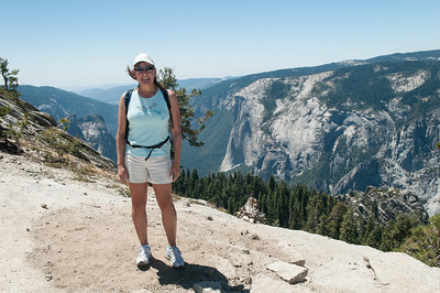 On a short hike to Sentinel Dome (up near Glacier Point) overlooking Yosemite Valley