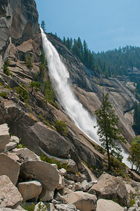 Nevada Falls on the way up the Mist Trail