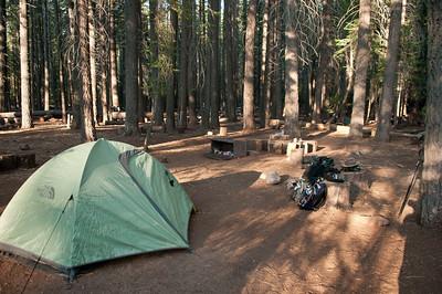 Our campsite in Little Yosemite