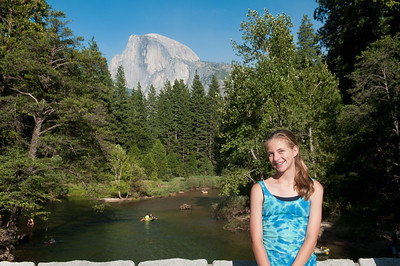 Sara posing in front of Half Dome