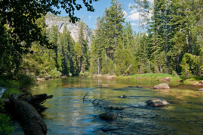 The Merced river at our campsite at Little Yosemite
