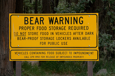 We were fortunate not to encounter bears while backpacking.  We found the bear storage boxes to be invaluable for protection from the ground squirrels!