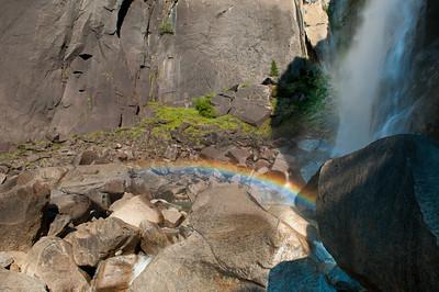 Rainbow below Lower Yosemite Falls