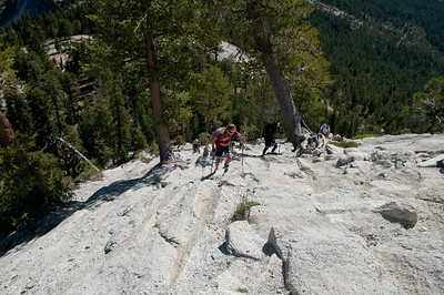 Ascending the sub-dome.  Steep granite steps, feeling the effects of 8000'